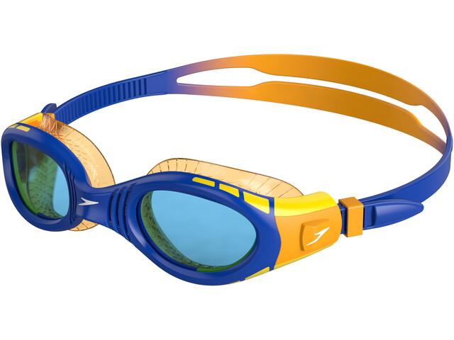 speedo Futura Biofuse Flexiseal Goggles Kinderen, blauw/geel